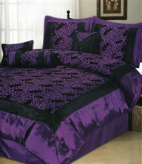 black satin comforter queen flocking leopard satin comforter set queen purple black