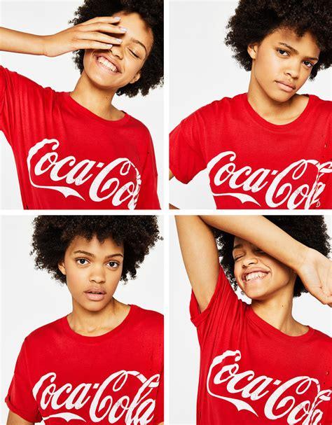 Bershka Tshirt Cola Cola t shirts pour femme automne hiver 2017 bershka