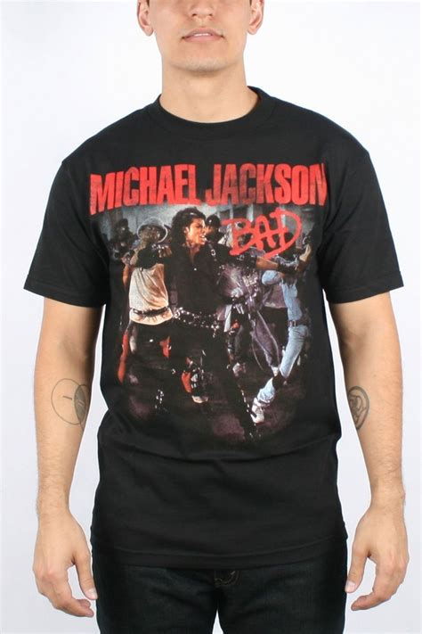 Tees S O S Ones Stuff michael jackson mens quot bad quot photo t shirt in black what