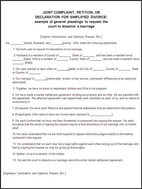 Divorce Petition Form Template Templates Resume Exles Jeggb2laqo Husband And Will Template