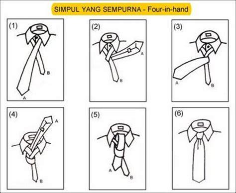 tutorial memakai dasi kantor cara memasang dasi mudah