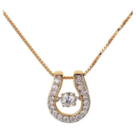 horseshoe pendant in 14k yellow gold