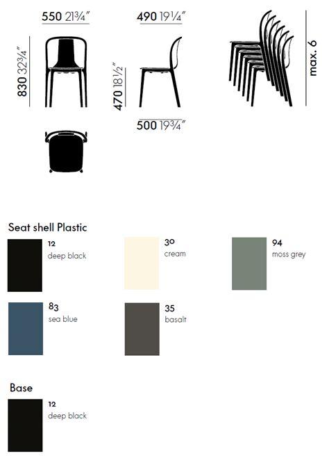 vitra sedie vitra sedia belleville chair plastic myareadesign it