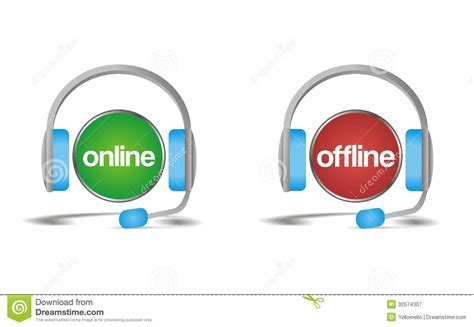 on line offline chat support help icon royalty free stock