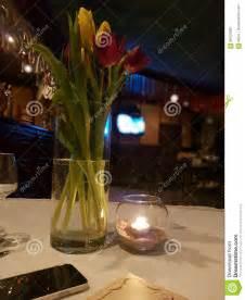 ristoranti candela vaso immagine stock immagine di ristoranti candela