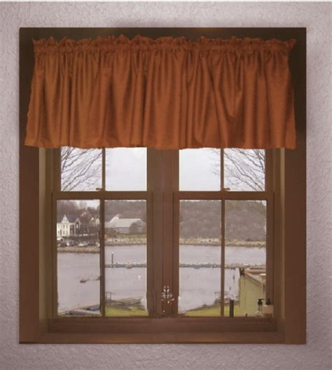 10 Inch Valance 10 Inch Rust Valance With Lining On Clearance