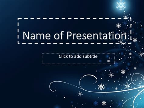 new year template of powerpoint with a blue background
