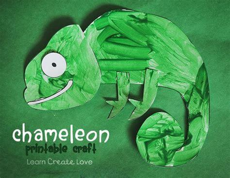 eric carle chameleon template printable chameleon craft from http learncreatelove