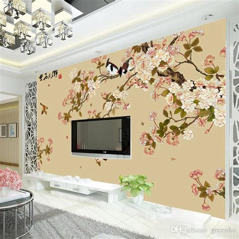 vintage bird and flower wallpaper custom 3d wall mural photo wallpaper