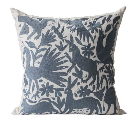 Otomi Pillows by Otomi Pillows Slate Grey L Aviva Home