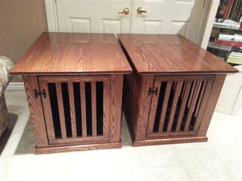 diy dog crate table dog crate furniture diy side table side table dog crate