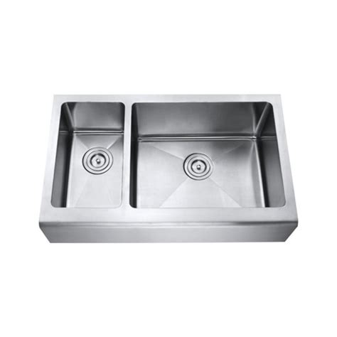 33 Inch Apron Sink 33 inch stainless steel smooth flat front farmhouse apron kitchen sink offset bowl 15mm