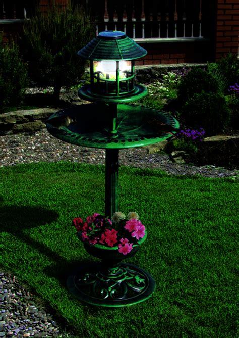 bird bath feeder with solar light and planter 4 in 1 solar bird bath feeder hotel house garden planter