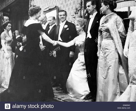 maria callas queen elizabeth actress brigitte bardot greeting queen elizabeth ii during