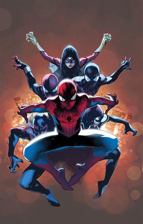 spider verse spider verse is here first look amazing spider man 9 comic vine