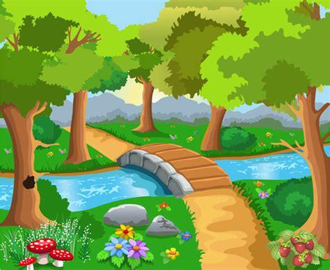 Home Decorative Wallpaper free vector cute cartoon landscape vector vecto2000 com