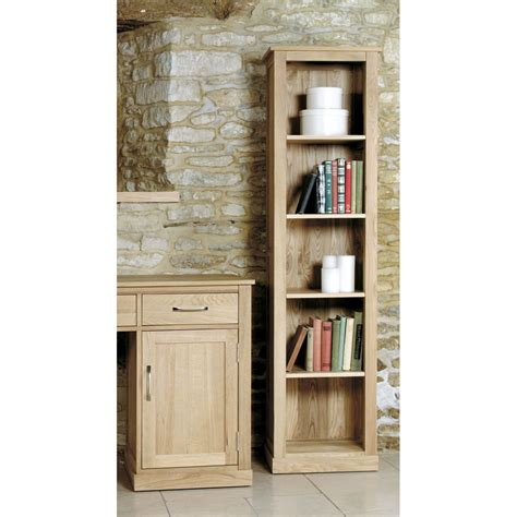 mobel light oak narrow bookcase wooden furniture store