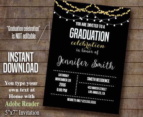 design invitation graduation free college graduation party invitations templates