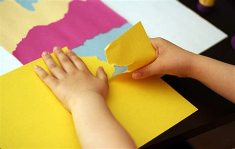 Paper Tearing Craft - creating torn paper landscapes landscaping construction