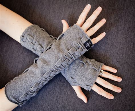 Handmade Fingerless Gloves - fingerless gloves handmade wrist warmers adjustable length
