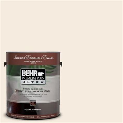 behr premium plus ultra 1 gal ul140 14 heavy interior eggshell enamel paint 275001 the