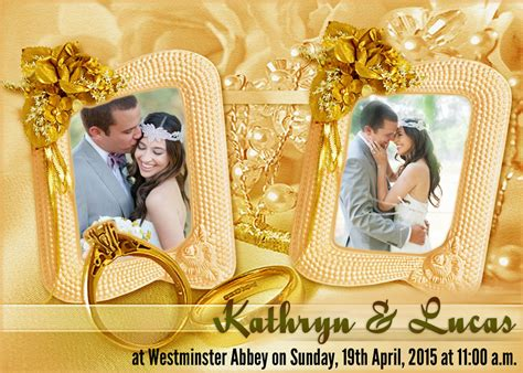 wedding background deviantart wedding invitation gold theme template by