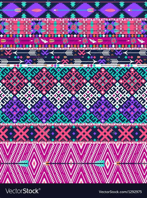 tribal seamless aztec pattern  birds vector image