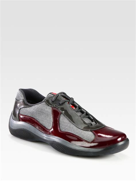 prada americas cup sneaker prada americas cup manhattan sport sneakers in purple for
