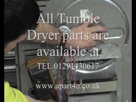 how to replace a thermostat on a tumble dryer how to
