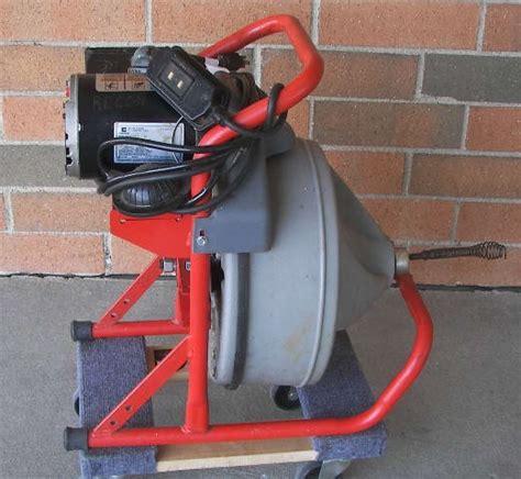 Rigid Plumbing Snake by Ridgid K 380 Drum Drain Cleaning Machine Plumbing Snake Rodder Ebay