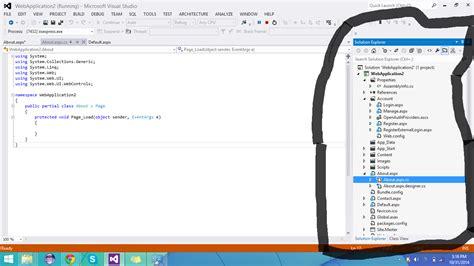 tutorial visual studio 2012 asp net c explaining the solution explorer asp net visual