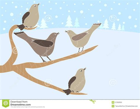 12 days of christmas 4 calling birds royalty free stock