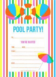 free printable summer pool invitation the creative