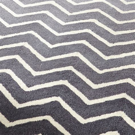 grey and white zigzag rug white grey 100 wool large floor spectrum rug modern zig zag design tufted ebay