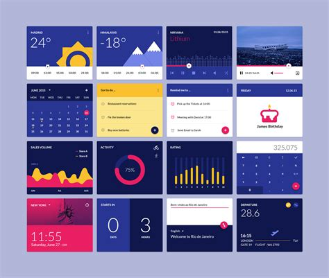 material design ui elements material design widgets psd ui kit freebie download