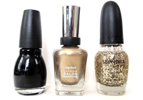 Sephora Nail Designer Top Coat Kutek saturday morning manicure glitz on what i wore