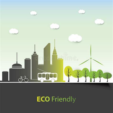 background design vector format eco friendly background design stock vector image