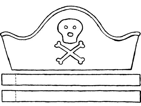 pirate hat crafts colouring page 01k coloring pages of