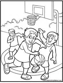 coloring pages sports basketball gallery