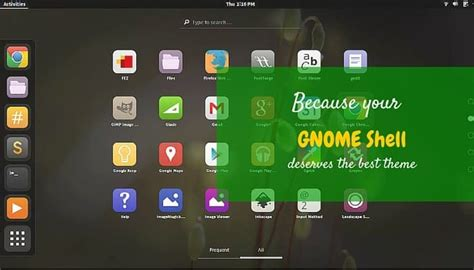 change themes in gnome best gnome shell themes for ubuntu 14 04