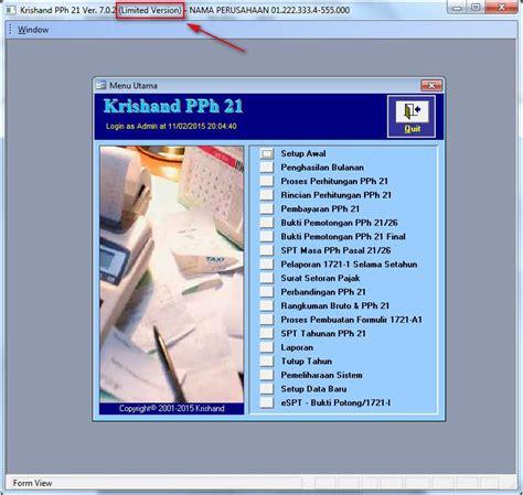 Cd Krishand Pph 21 Versi 7 0 1 cara upgrade krishand pph21 versi 7 0 1 ke versi 7 0 2