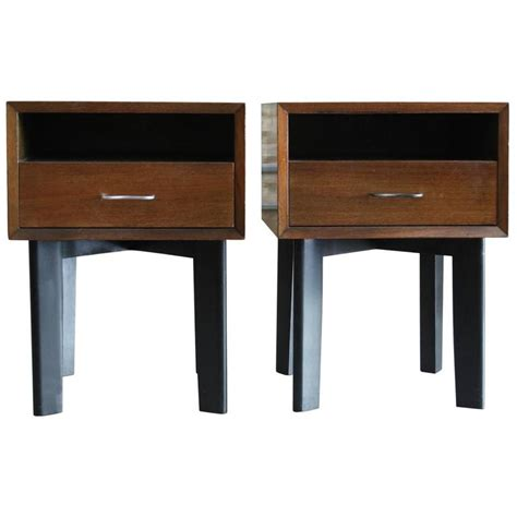 herman miller bedroom furniture pair of walnut bedside tables by george nelson for herman
