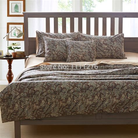 Bedding Sets For California King Size Leopard Brand 4pcs Bedding Sets King Size California King Size 100 Cotton Material Quilted