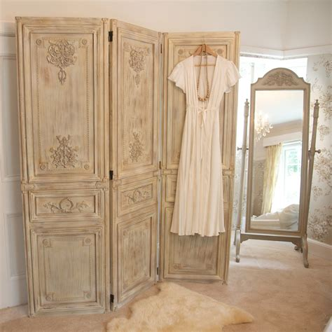 Bedroom Screen | limed wooden dressing screen french bedroom company