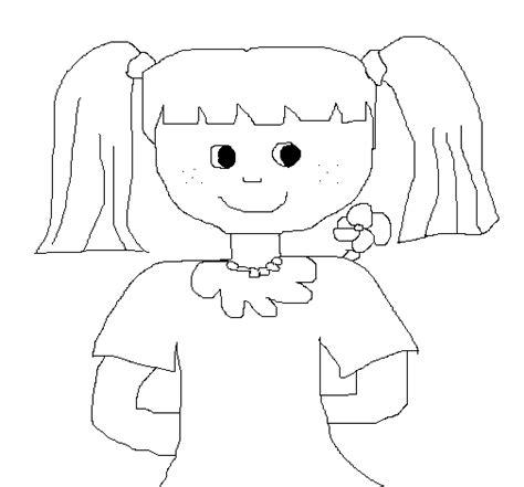 Dibujos De Munecas Para Dibujar | dibujo de mu 241 eca 2 para colorear dibujos net