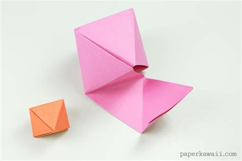 origami octahedron box decoration paper