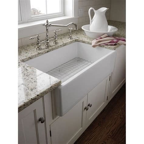 Kitchens With Farm Sinks Pegasus Farmer Apron Front Fireclay 29 3 4x18x10 0 Single Bowl Kitchen Sink In White Fs30