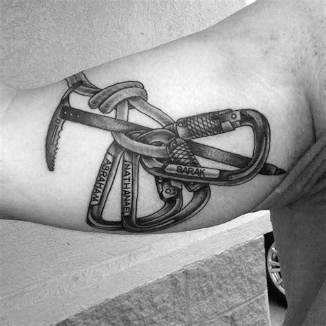 rock climbing tattoos 60 rock climbing tattoos for climber design ideas