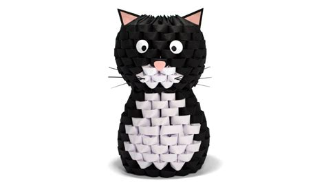 How To Make A 3d Origami Cat - 3d origami cat