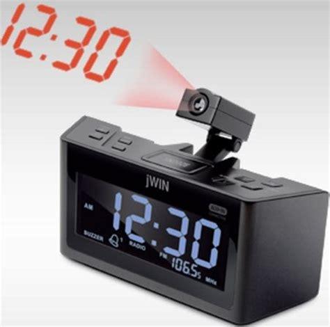 jwin jl365 big lcd alarm clock with am fm radio and projector black digital dual alarm clock